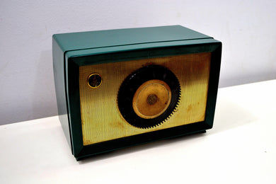 Neptune Green Mid Century 1955 Emerson Model 813B AM Vacuum Tube Radio Sounds Great! - [product_type} - Emerson - Retro Radio Farm