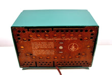 Load image into Gallery viewer, Neptune Green Mid Century 1955 Emerson Model 813B AM Vacuum Tube Radio Sounds Great! - [product_type} - Emerson - Retro Radio Farm