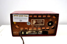 Load image into Gallery viewer, Cranberry Red 1954 RCA Victor Vintage Model 4-C-544 Tube AM Clock Radio Sounds Great! - [product_type} - RCA Victor - Retro Radio Farm