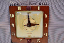 Load image into Gallery viewer, Lavender Taupe Art Deco Vintage 1948 Telechron Model 8H67 Musalarm AM Clock Radio Works Great! - [product_type} - Telechron - Retro Radio Farm