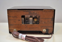 Load image into Gallery viewer, Mahogany Mitchell 1954 Model 1283 Vintage Tube AM Tone Alarm Radio Rare Brand! - [product_type} - Mitchell - Retro Radio Farm