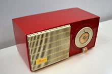 Load image into Gallery viewer, SOLD! - Jan. 8, 2020 - Rally Red and White 1955 General Electric Model 471 AM Tube Radio Real Charmer! - [product_type} - General Electric - Retro Radio Farm
