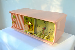 SOLD! - Aug 7, 2018 - MARILYN PINK Mid Century Vintage Retro 1956 Motorola 56CD Tube AM Clock Radio She's A Doll! - [product_type} - Motorola - Retro Radio Farm