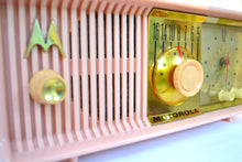 Load image into Gallery viewer, SOLD! - Aug 7, 2018 - MARILYN PINK Mid Century Vintage Retro 1956 Motorola 56CD Tube AM Clock Radio She's A Doll! - [product_type} - Motorola - Retro Radio Farm
