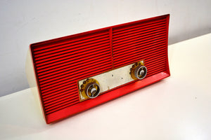 Salmon Pink Twin Speaker Retro Vintage 1959 Philco Model J846-124 AM Tube Radio Sounds Great! - [product_type} - Philco - Retro Radio Farm
