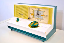 Load image into Gallery viewer, SOLD! - Sept 11, 2019 - Emerald Green Metallic Mid Century Retro Vintage 1960 Sylvania Model 5C12 AM Tube Clock Radio Unique Works Great! - [product_type} - Sylvania - Retro Radio Farm