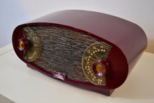Load image into Gallery viewer, Wild Looking Maroon Football 1950 Sparton Model 132 AM Tube Radio Excellent Condition! - [product_type} - Sparton - Retro Radio Farm