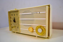 Load image into Gallery viewer, Pure White 1965 Zenith Model X174W AM Tube Clock Radio Works Great! - [product_type} - Zenith - Retro Radio Farm