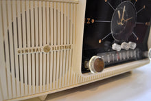 Load image into Gallery viewer, SOLD! - Aug 23, 2019 - Classic Pure White 1957 General Electric Model 912 Tube AM Clock Radio Solid Player Nice Looker! - [product_type} - General Electric - Retro Radio Farm