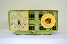 Load image into Gallery viewer, SOLD! - Aug 15, 2018 - BLUETOOTH MP3 UPGRADE ADDED - SPRING GREEN 1958 GE General Electric Tube AM Radio Model C-438B Radio So Fresh! - [product_type} - General Electric - Retro Radio Farm