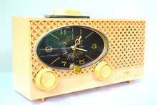 Load image into Gallery viewer, Lace Pink 1959 Admiral Y3354 Vintage Atomic Age Tube AM Radio Clock Sounds Great! - [product_type} - Admiral - Retro Radio Farm