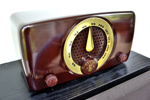SOLD! - Aug 22, 2019 - Chocolate Brown Bakelite 1949 Zenith Model 7H918 FM Only Tube Radio Great Player Delicious Looking! - [product_type} - Zenith - Retro Radio Farm