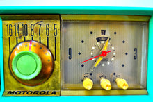 Load image into Gallery viewer, SOLD! - Sept. 18, 2019 - Surf Green 1957 Motorola Model 57CC Tube AM Clock Radio Sounds Great Looks Amazing! - [product_type} - Motorola - Retro Radio Farm
