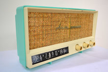 Load image into Gallery viewer, Aquamarine Blue Retro Jetsons Vintage 1959 Arvin 2585 AM Tube Radio Retro Glory! - [product_type} - Arvin - Retro Radio Farm