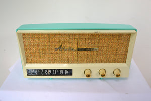 Aquamarine Blue Retro Jetsons Vintage 1959 Arvin 2585 AM Tube Radio Retro Glory! - [product_type} - Arvin - Retro Radio Farm