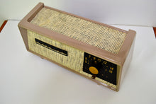 Load image into Gallery viewer, Sandalwood Beige Ivory Burlap 1954 Sparton Model 375C AM Tube Radio Real Looker! - [product_type} - Sparton - Retro Radio Farm