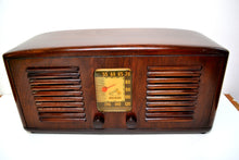Load image into Gallery viewer, Beautiful Solid Wood Retro Art Deco 1941 RCA Victor 55X Tube Radio Twin Speakers! - [product_type} - RCA Victor - Retro Radio Farm