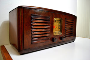 SOLD! - Sept 24, 2019 - Beautiful Solid Wood Retro Art Deco 1941 RCA Victor 55X Tube Radio Twin Speakers! - [product_type} - RCA Victor - Retro Radio Farm