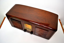 Load image into Gallery viewer, SOLD! - Sept 24, 2019 - Beautiful Solid Wood Retro Art Deco 1941 RCA Victor 55X Tube Radio Twin Speakers! - [product_type} - RCA Victor - Retro Radio Farm