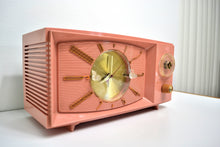 Load image into Gallery viewer, SOLD! - Aug 31, 2019 - Rose Pink 1959 Westinghouse Model H545T5A Vintage Tube AM Clock Radio Totally Restored! - [product_type} - Westinghouse - Retro Radio Farm