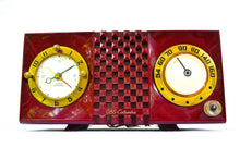 Load image into Gallery viewer, SOLD! - Nov 17, 2018 - CRANBERRY Mid Century Retro 1953 CBS Columbia 542 Tube AM Clock Radio - [product_type} - CBS - Retro Radio Farm
