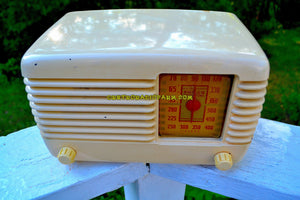 SOLD! - Dec 15, 2017 - BLUETOOTH MP3 Ready - ANTIQUE IVORY Vintage Deco Retro 1946 Philco Transitone 46-200 AM Bakelite Tube Radio Excellent Working Condition! - [product_type} - Philco - Retro Radio Farm