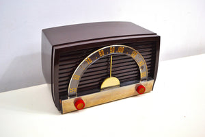 SOLD! - Sept 29, 2019 - Brown Bakelite 1950 Motorola Model 59X11 Tube AM Antique Radio Nice Performer Easy On Eyes! - [product_type} - Motorola - Retro Radio Farm