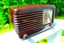 Load image into Gallery viewer, SOLD! - Sept 28, 2017 - BLUETOOTH MP3 Ready - BROWN MARBLED Swirly Vintage Deco Retro 1946 Philco Transitone 46-200 AM Bakelite Tube Radio Excellent Working Condition! - [product_type} - Philco - Retro Radio Farm
