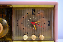 Load image into Gallery viewer, MARILYN PINK Mid Century 1956 Motorola 56CD Tube AM Clock Radio She's A Doll! - [product_type} - Motorola - Retro Radio Farm