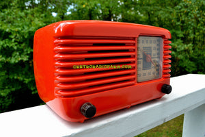 SOLD! - Dec 1, 2017 - BLUETOOTH MP3 Ready - PERSIMMON Vintage Deco Retro 1946 Philco Transitone 46-200 AM Bakelite Tube Radio Excellent Working Condition! - [product_type} - Philco - Retro Radio Farm