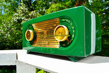Load image into Gallery viewer, SOLD! - Dec 9, 2017 - JADE DRAGON GREEN Mid Century Vintage 1955 Zenith Model R512F AM Tube Radio Bells and Whistles! - [product_type} - Zenith - Retro Radio Farm