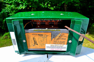 SOLD! - Dec 9, 2017 - JADE DRAGON GREEN Mid Century Vintage 1955 Zenith Model R512F AM Tube Radio Bells and Whistles! - [product_type} - Zenith - Retro Radio Farm