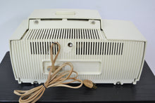 Load image into Gallery viewer, SOLD! - July 8, 2019 - Classic White 1957 General Electric Model 912D Tube AM Clock Radio - [product_type} - General Electric - Retro Radio Farm
