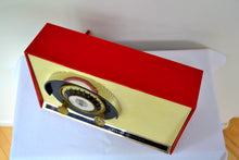 Load image into Gallery viewer, SOLD! - Sept 16, 2018 - - BLUETOOTH MP3 UPGRADE ADDED - Caliente Red and White 1957 General Electric 862 Tube AM Radio