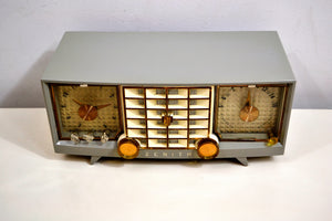 Hull Grey 1955 Zenith Super Deluxe Model R623G AM Tube Radio Bells and Whistles! - [product_type} - Zenith - Retro Radio Farm