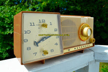 Load image into Gallery viewer, SOLD! - Feb 18, 2018 - BLUETOOTH MP3 UPGRADE ADDED - CARAMEL And Cream Mid Century Retro Vintage 1961 Motorola C18W Tube AM Clock Radio Beautiful and Tasty Looking! - [product_type} - Motorola - Retro Radio Farm