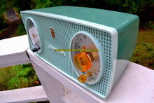 Load image into Gallery viewer, SOLD! - Oct 8, 2017 - BLUETOOTH MP3 Ready - SPRUCE Green Mid Century Retro 1959 Zenith Model B514F Tube AM Clock Radio Sounds Great!