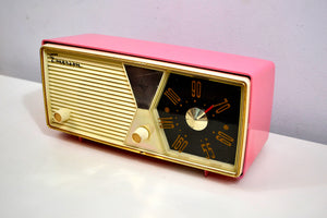 Bubble Gum Pink 1956 Emerson Model 876B Tube AM Radio Restored Loud As Heck and Great Sounding! - [product_type} - Emerson - Retro Radio Farm