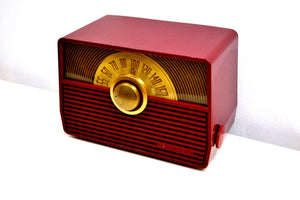 Claret Red 1952 RCA Victor Model 1-X-56 AM Tube Radio Great Sounding! - [product_type} - RCA Victor - Retro Radio Farm