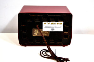 SOLD! - Jan 19, 2020 - Claret Red 1952 RCA Victor Model 1-X-56 AM Tube Radio Great Sounding! - [product_type} - RCA Victor - Retro Radio Farm