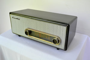 SOLD! - Feb 7, 2019 - Graphite Black 1959 Crosley Ranchero T-60 AM Tube Radio - [product_type} - Crosley - Retro Radio Farm