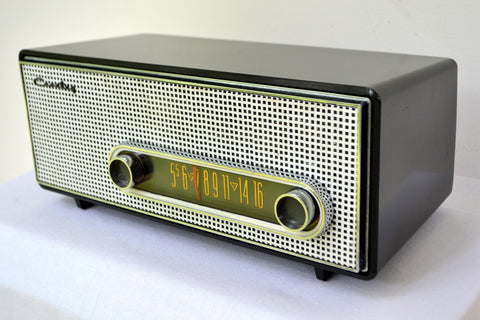 Graphite Black 1959 Crosley Ranchero T-60 AM Tube Radio Near Mint!