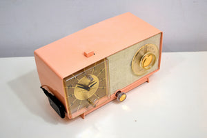 BLUETOOTH MP3 UPGRADED - Chantelle Pink 1966 GE General Electric Model C-546 AM Vintage Radio Little Cutie! - [product_type} - General Electric - Retro Radio Farm