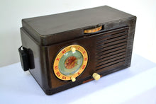 Load image into Gallery viewer, SOLD! - Dec 7, 2018 - BLUETOOTH MP3 READY - 1952 General Electric Model 66 AM Brown Bakelite Tube Clock Radio - [product_type} - General Electric - Retro Radio Farm
