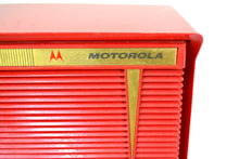 Load image into Gallery viewer, BLUETOOTH MP3 Ready - Apple Red 1959 Motorola Model A1R-15 Tube AM Radio - [product_type} - Motorola - Retro Radio Farm
