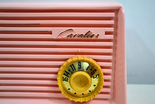 Load image into Gallery viewer, SOLD! - Dec 31, 2019 - Carnation Pink 1959 Cavalier Model 562 Vintage Tube AM Radio Collectors Delight! - [product_type} - Cavalier - Retro Radio Farm