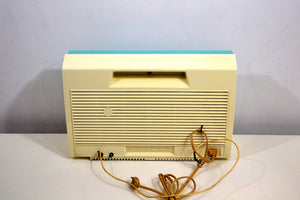 SOLD! - Sept 28, 2019 - Seafoam Turquoise and White 1963 Philco Model K914-124 Rare FM & AM Tube Radio Wow - What A Find! - [product_type} - Philco - Retro Radio Farm