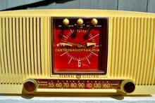 Load image into Gallery viewer, SOLD! - Nov 18, 2017 - BLUETOOTH MP3 READY Ivory Vanilla 1955 General Electric Model 573 Retro AM Clock Radio Works Great! - [product_type} - General Electric - Retro Radio Farm