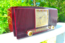 Load image into Gallery viewer, Sold! - Oct 21, 2017 - BLUETOOTH MP3 READY Swirly Brown Marbled 1955 General Electric Model 572 Retro AM Clock Radio Mint Condition! - [product_type} - General Electric - Retro Radio Farm