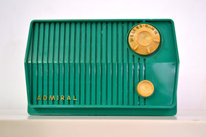SOLD! - July 23, 2019 - Green 1959 Admiral Model 4L28A AM Antique Radio - [product_type} - Admiral - Retro Radio Farm